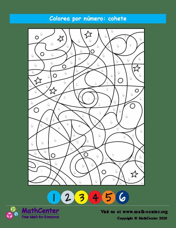 Colorear por números - Cohete