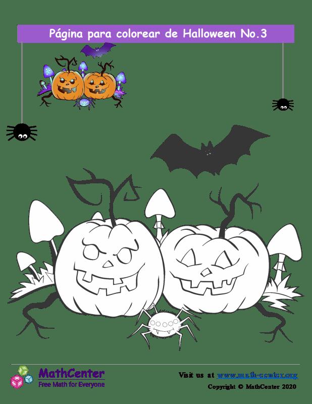 Hoja para colorear - Halloween N°3