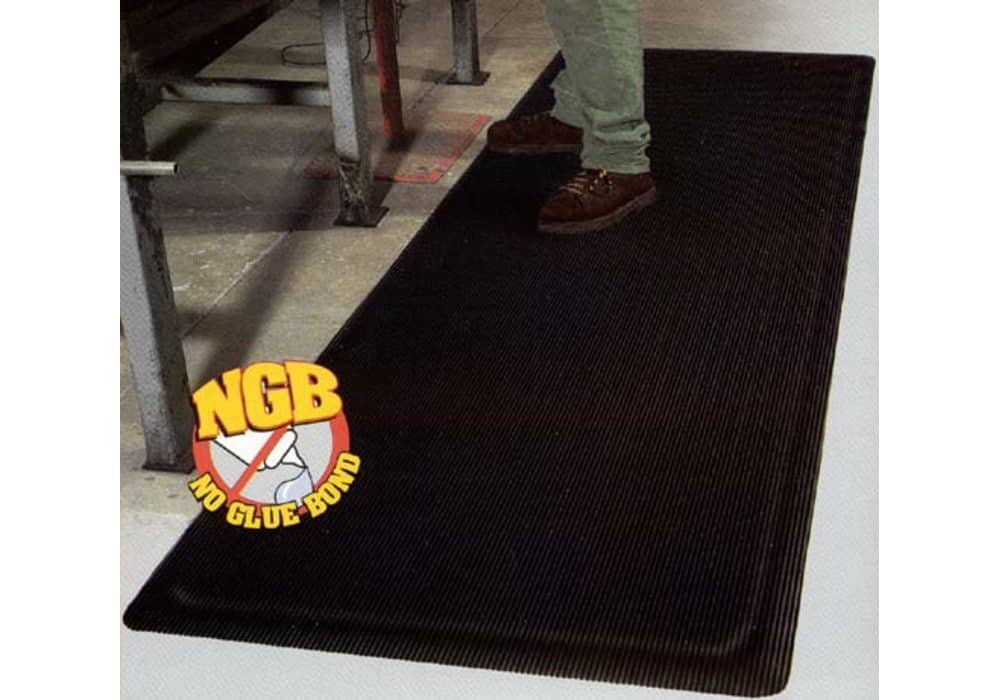 Ribbed Top Anti Fatigue Mat Standard Or Yellow Safety