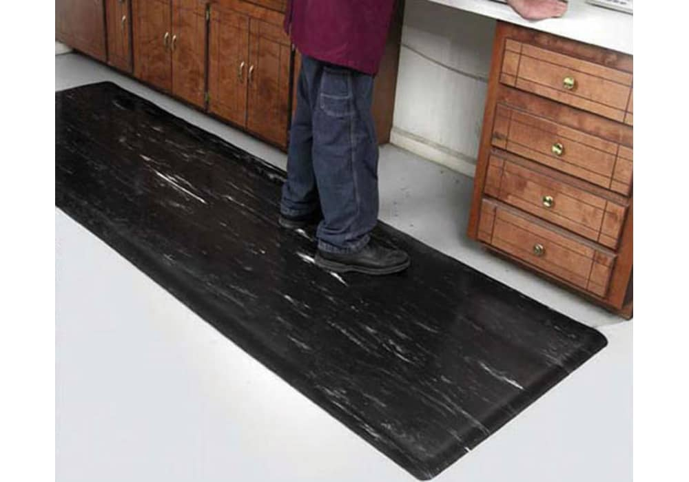 Anti Fatigue Mat With A Smooth Hard Durable Top For Chairs