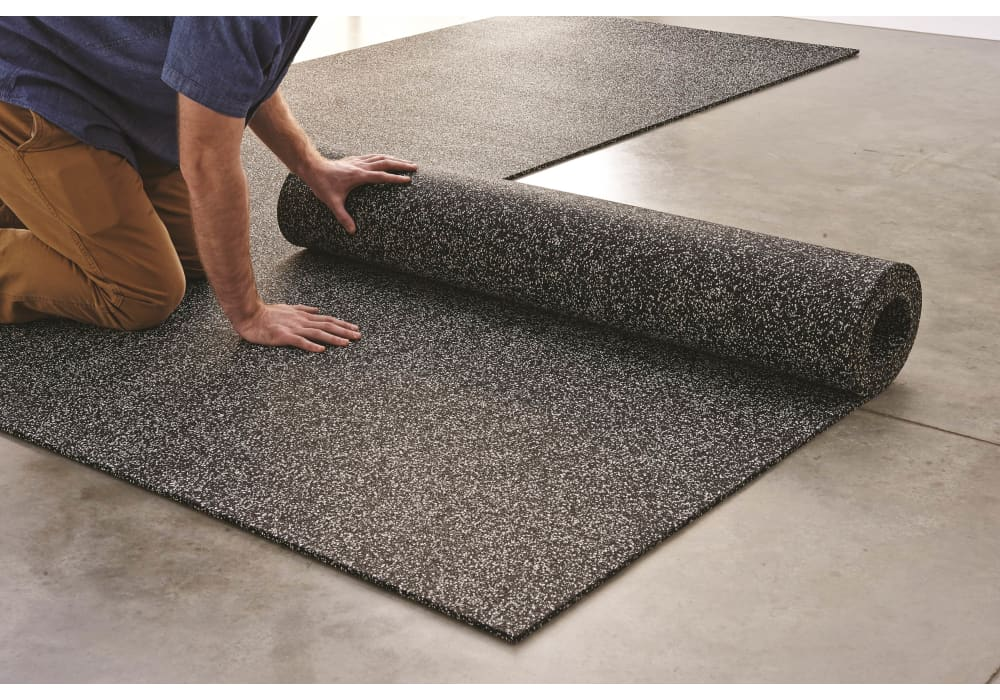 Rolled Rubber Flooring For Gyms Warehouses Manufacturing