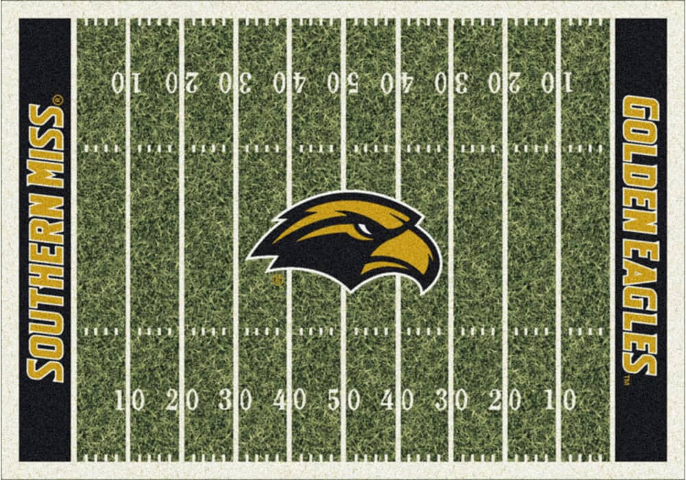 Area Rug With Southern Mississippi Golden Eagles Sports