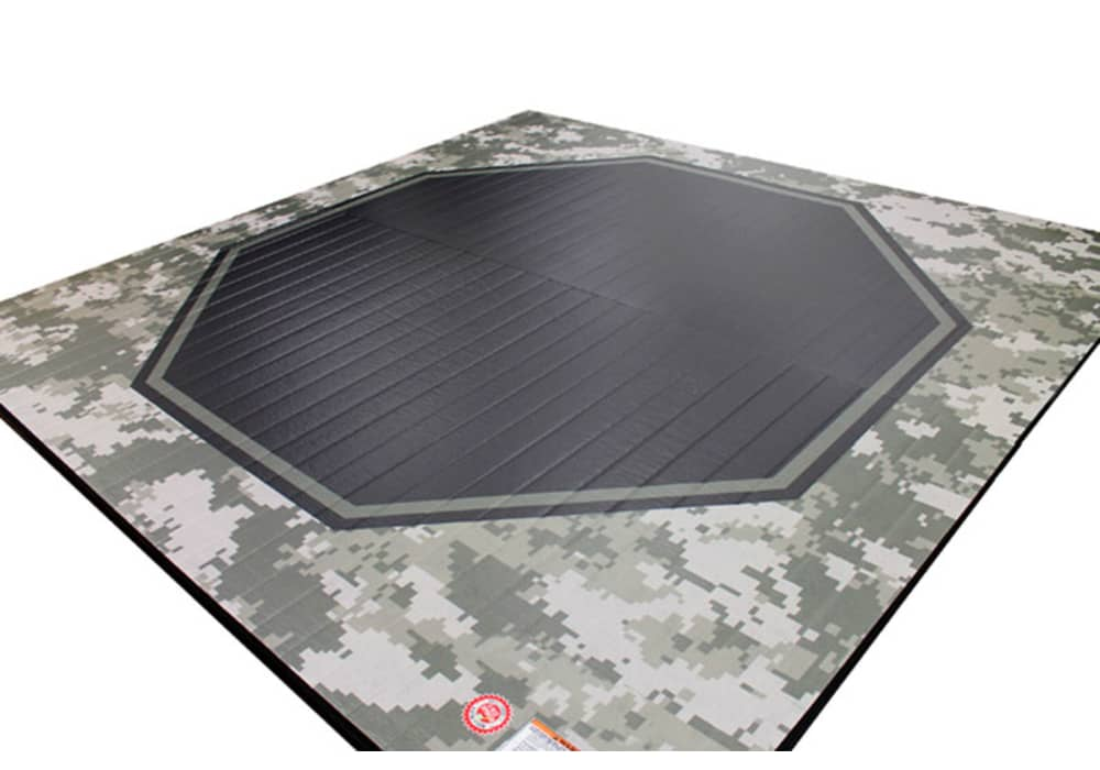 Mma Practice Mat With Octagon Ring And Camouflage Design