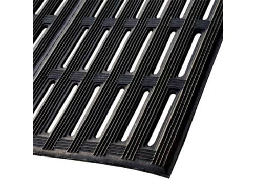 "Counter-Tred Rubber Open-Slot Mat (1/2"")"