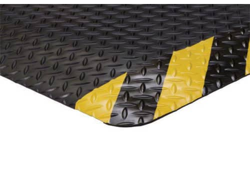 "Diamond Fatigue Mat with Safety Borders (9/16"")"