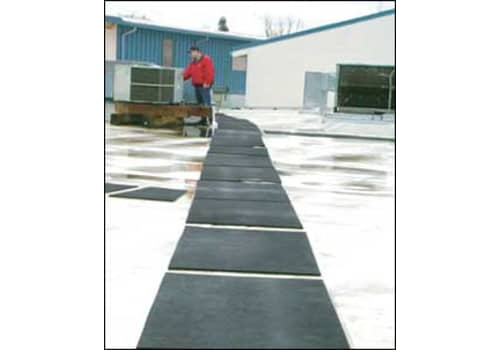 Roof walkway mats provide safe rooftop access for maintenance