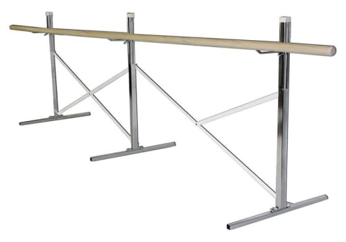 Portable Ballet Bar - Barre on One Side, 10', 14', 16' or Custom by Alvas