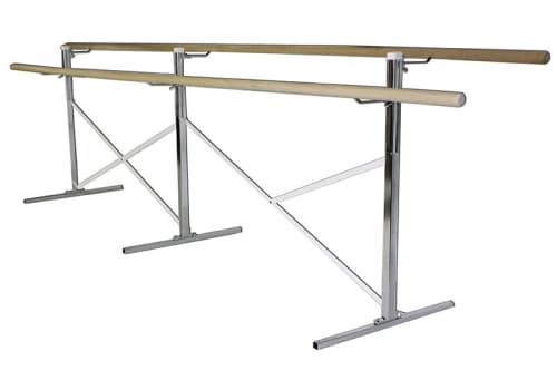Portable Ballet Bar - Barre on Both Sides, 10', 14', 16' or Custom by Alvas