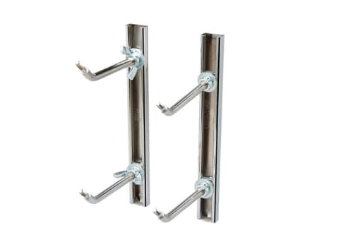 Single Adjustable Chrome Ballet Bar Mounting Brackets