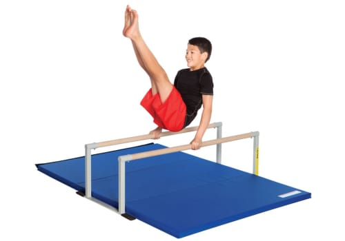 Gymnastics Low Parallel Bars & Mat for Kids