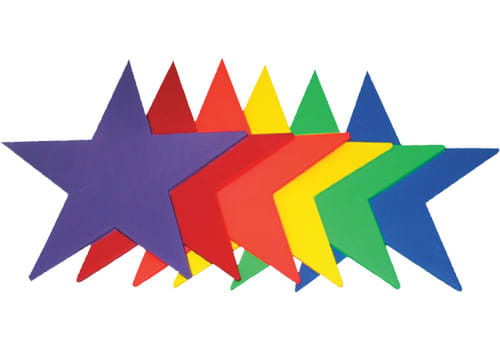 Poly Pads - Rainbow Stars (Set of 6)