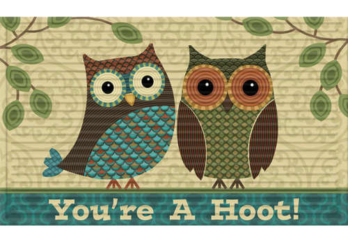 3D Impressions Mat - You're A Hoot