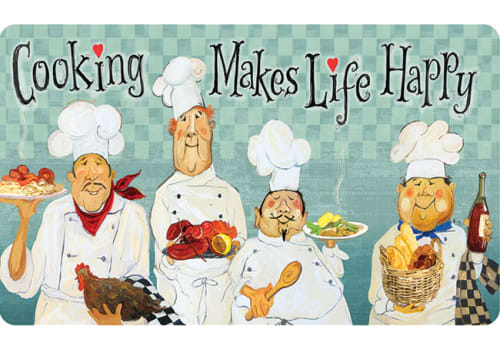 Cushion Comfort Kitchen Mat - Cooking Makes Life Happy