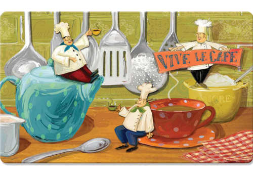Cushion Comfort Kitchen Mat - Viva Le Cafe