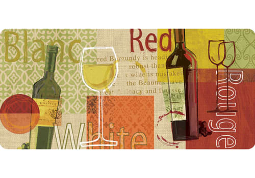 Cushion Comfort Kitchen Mat - Wine Medley Burlap