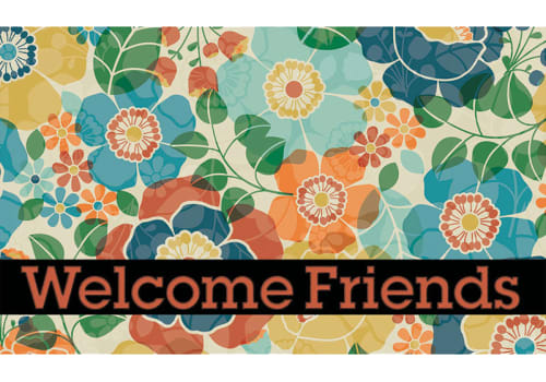 Masterpiece Mat - Kaleidoscope Welcome Friends