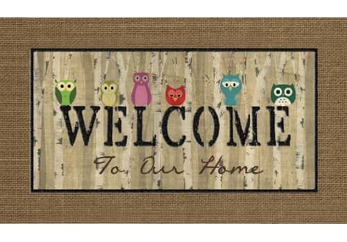 Masterpiece Mat - Welcome Owls