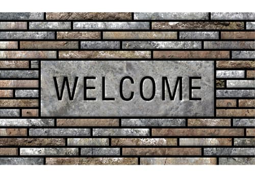 Masterpiece Mat - Welcome Stone Slats