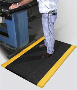 Fatigue Mat with Yellow Safety Mat Borders