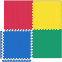 Garage Floor Tiles - Red/Yellow/Blue/Green
