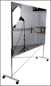 Mylar Mirror For Dance With High Rolling Frame