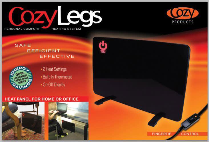 Flat Panel Radiant Heater And Leg Warmer