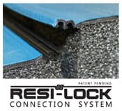 Zip Mat Connector Close-up. The Zip Mat completely eliminates the need for mat tape and locks together fast and secure