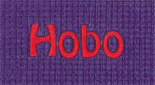 Embroidered Yoga Mat with Hobo Font