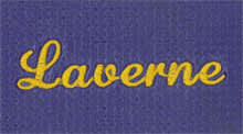 Custom Yoga Mat with Laverne Font