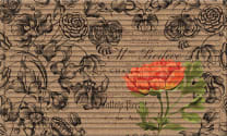 3D Impressions Mat - Vintage Floral Peony