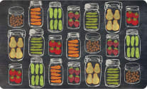 Cushion Comfort Kitchen Mat - Veggie Jars