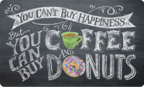 Cushion Comfort Kitchen Mat - You Can't Buy Happiness