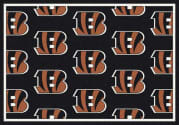 Cincinnati Bengals (Black Background) - Sports Team Rug