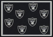 Oakland Raiders (Black Background) - Sports Team Rug