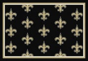 New Orleans Saints (Black Background) - Sports Team Rug