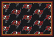 Tampa Bay Buccaneers (Black Background) - Sports Team Rug