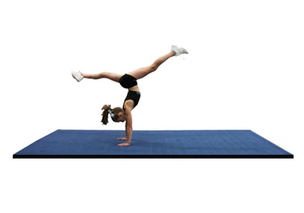Practice Cheer Mats And Gymnastics Mats With Carpet Top
