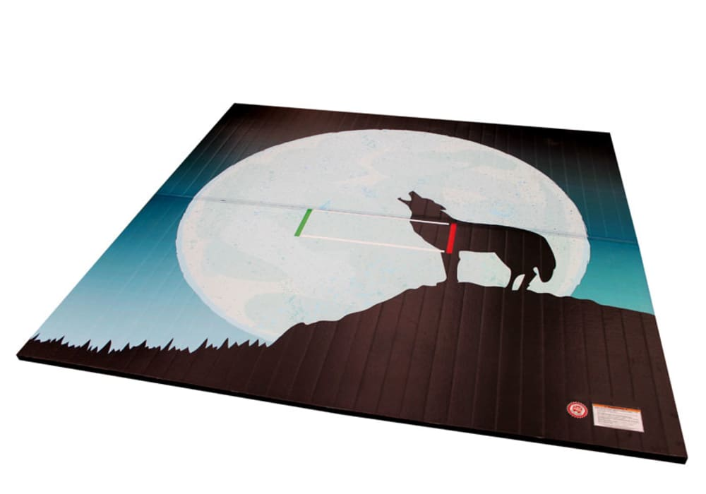 Wrestling Mat With Custom Printed Coyote Full Moon