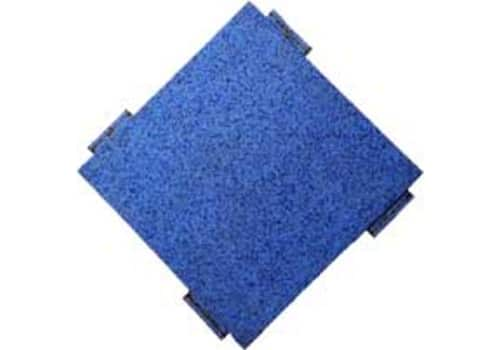 Rubber Playground Tile in Blue