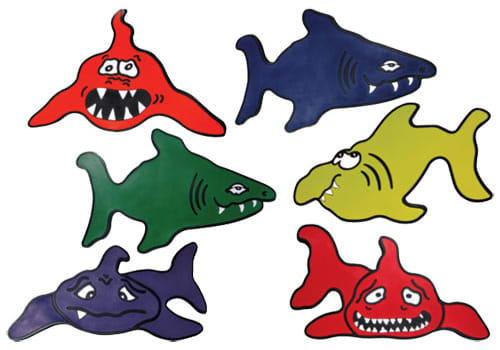 Poly Pads - Sharks (Set of 6)