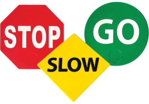 Poly Pads - Stop, Slow & Go (Set of 3)
