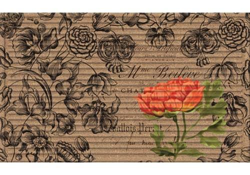 3D Impressions Mat - Vintage Floral Peony