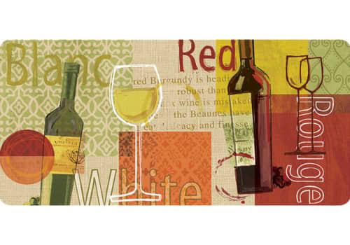 Cushion Comfort Kitchen Mat - Wine Medley Burlap