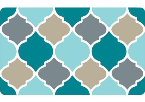 Decor Kitchen Mat with Mid-Century Design