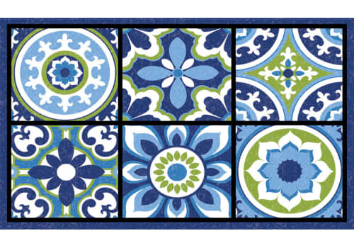 Masterpiece Mat - Pembe Medallion Tiles