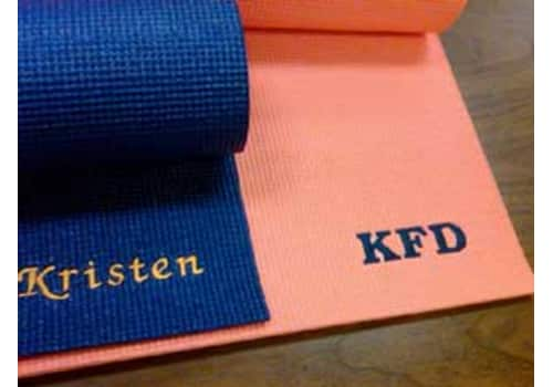 Custom Embroidered Yoga Mat