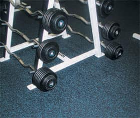 weight room flooring - interlocking rubber tiles