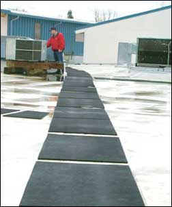 Recycled Rubber Walkway Roof Pads - Be Safe
