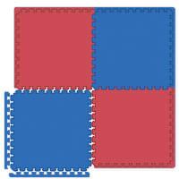 Interlocking Tiles - Reversible Red/Blue