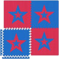Garage Flooring - Red/Blue Stars